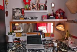 ワークスペース, 作り付け, 書斎, 棚, 遊び心